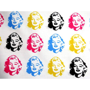 Marilyn Monroe Faces White Digital Print Robert Kaufman #7008 - Quilting & Sewing Fabric
