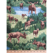 Moose Landscape Scenic Nature Outdoors Timeless Treasures #6421 - Quilting & Sewing Fabric