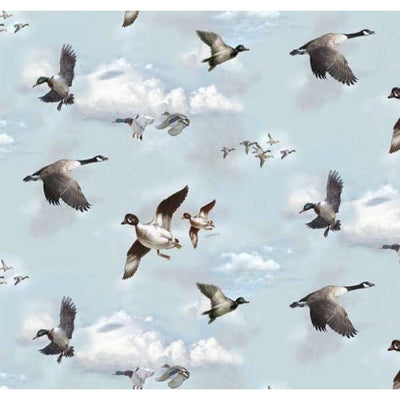 Mountain Woods Ducks & Geese Wildlife Bird Spectrix Fabric #1478 - Quilting & Sewing Fabric