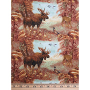 Mountain Woods Moose Buck Deer & Pheasants Spectrix Fabric #1592 - Quilting & Sewing Fabric