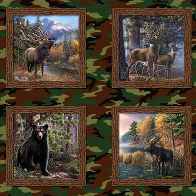 Multi The Great Outdoors Digital Panel Windham Fabrics #7050 - Quilting & Sewing Fabric