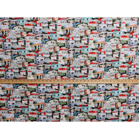 Multi Vintage Trailers Packed Campers Elizabeths Studio #7497 - Quilting & Sewing Fabric