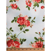 My Secret Garden Vining Roses Blue Floral Maywood Studios #2258 - Quilting & Sewing Fabric