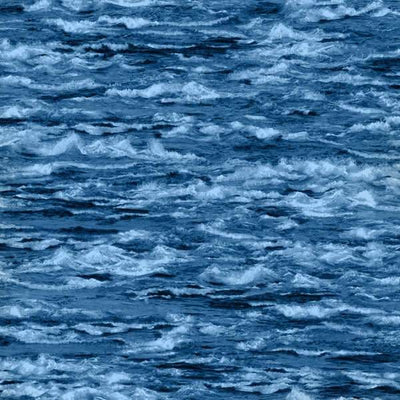 Natural Elements Blue Ocean Waves Water Fresh Water Designs #2491 - Quilting & Sewing Fabric