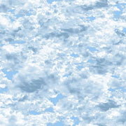 Natural Elements Light Blue Clouds Sky Fresh Water Designs #2540 - Quilting & Sewing Fabric
