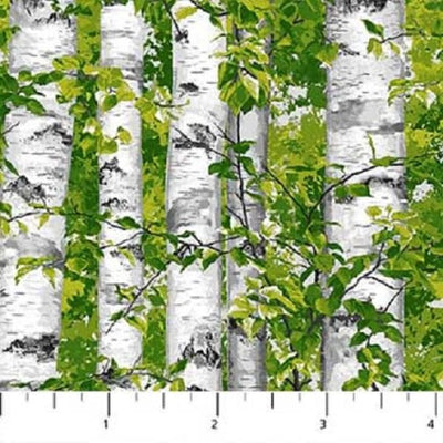 Naturescapes Abundant Garden Birch Trees Northcott Studios #7058 - Quilting & Sewing Fabric
