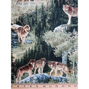 Northwoods Wildlife Forest Animals Wolves Windham Fabrics #2032 - Quilting & Sewing Fabric