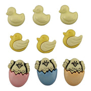 Our Lil Spring Chickadee Easter Plastic Embellishment Buttons #4480 - Sewing Notions