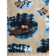 Outdoor Life Camping Wildlife Ducks Windham Fabrics #2267 - Quilting & Sewing Fabric