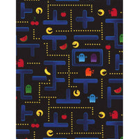 Pac Man Maze Video Game Black Cotton Timeless Treasures #7328 - Quilting & Sewing Fabric