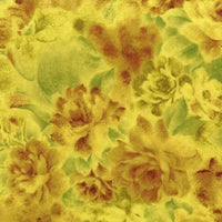 Packed Yellow Floral Blender Bedfordshire Cotton RJR Fabrics #3035 - Quilting & Sewing Fabric