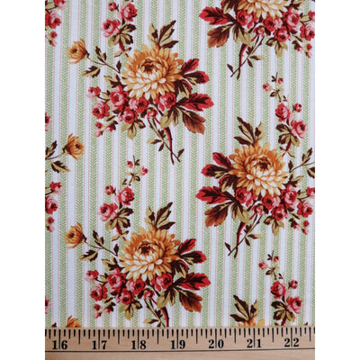 Peace & Prosperity Floral Stripe Windham Fabrics #2265 - Quilting & Sewing Fabric
