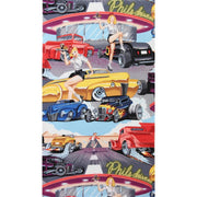 Phils Drive-In Retro Girls & Vintage Cars Alexander Henry #6621 - Quilting & Sewing Fabric