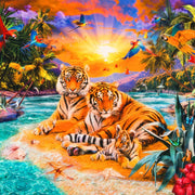 Picture This Wild Tiger Panel Digitally Printed Robert Kaufman #7153 - Quilting & Sewing Fabric