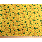 Primrose Path Floral Herbie Yellow Flowers South Sea Imports #2622 - Quilting & Sewing Fabric