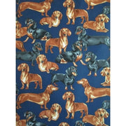 Purebred Dachshunds Dogs Timeless Treasures Fabrics Navy Blue #7326 - Quilting & Sewing Fabric