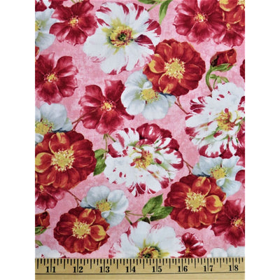 Rainbow Garden Flowers Pink Scentimental Floral Wilmington Prints #2586 - Quilting & Sewing Fabric