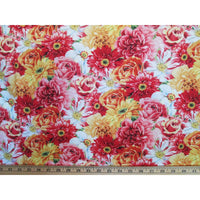 Rainbow Packed Floral Multi Flowers Wilmington Prints #3989 - Quilting & Sewing Fabric