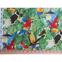 Rainforest Romp Birds Tucan Cockatiel & Parrots Stonehenge Northcott #3624 - Quilting & Sewing Fabric