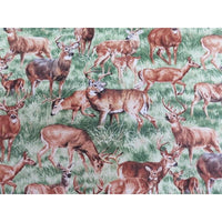 Realistic American Wildlife Deer Buck & Doe Nature Outdoors Fabri-Quilt #4392 - Quilting & Sewing Fabric