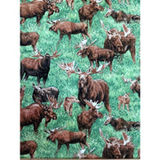 Realistic American Wildlife Moose Fabri-Quilt Fabrics #3258 - Quilting & Sewing Fabric