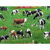 Realistic Farm Animals Cows Chickens Scenic Elizabeths Studio #6229 - Quilting & Sewing Fabric