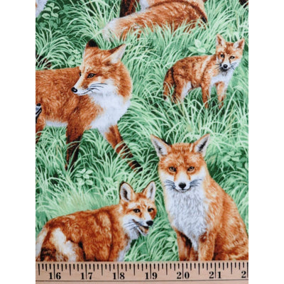 Realistic Red Fox American Wildlife Nature / Outdoors Fabri-Quilt #6369 - Quilting & Sewing Fabric