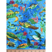 Realistic Sea Life Turtles Timeless Treasures Fabric #7651 - Quilting & Sewing Fabric