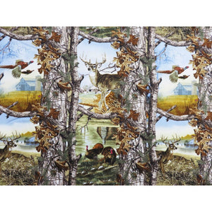 Realtree Deer Turkey & Pheasants In the Woods Print Concepts #5963 - Quilting & Sewing Fabric