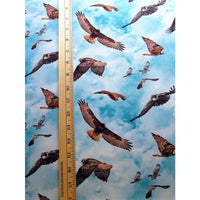 Red Tail Hawk North American Wildlife Blue Elizabeths Studio #4702 - Quilting & Sewing Fabric