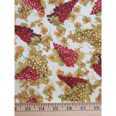 Red & White Wine Grapes Fruit on the Vine Wilmington Prints #2438 - Quilting & Sewing Fabric