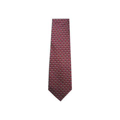 Religious Christians Closet Fish & Cross Burgundy White Black Silk Tie #7446 - Apparel