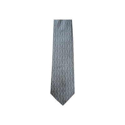 Religious Christians Closet Vertical Fish Charcoal Silk Tie #7447 - Apparel