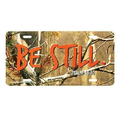 Religious License Plates Auto Tag Deluxe Camo Be Still Psalm 46:10 #7373 - Christian Products