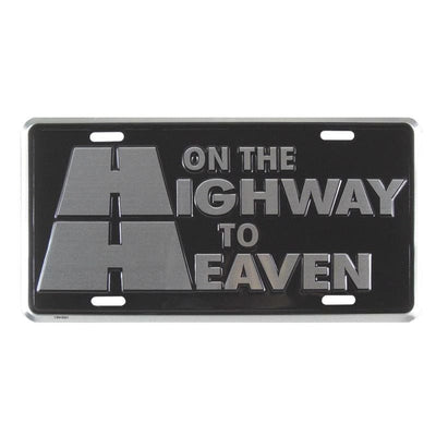 Religious License Plates Auto Tag Deluxe Silver On The Highway to Heaven #7371 - Christian Products