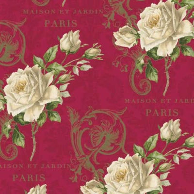 Romantic Roses Paris Floral Rose Blue Hill #2240 - Quilting & Sewing Fabric