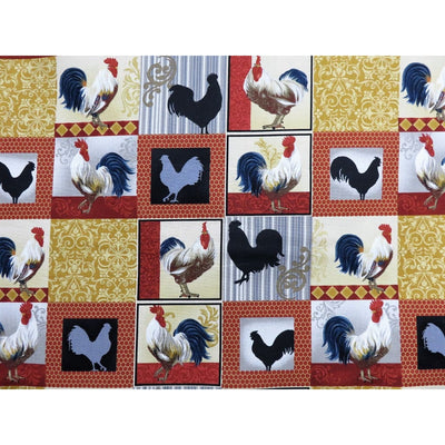 Rooster Inn Patchwork Farm Animals Fabri-Quilt Fabrics #5737 - Quilting & Sewing Fabric