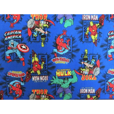 Royal Marvel Action Superhero Cartoon Comics Camelot Cottons #5218 - Quilting & Sewing Fabric