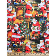 Santa Claus Bringing the Presents Christmas Digital Print David Textiles #5702 - Quilting & Sewing Fabric
