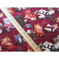 Scaredy Cats at the Theater Kittens Timeless Treasures #7610 - Quilting & Sewing Fabric