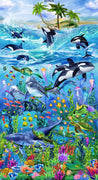 Sealife Vacations 24 Reef Panel Timeless Treasures #7094 - Quilting & Sewing Fabric