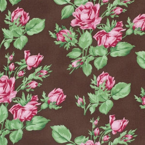 Sepia Floral Romance Roses brown Free Spirit #3710 - Quilting & Sewing Fabric