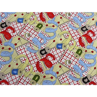 Sew Fun! Sewing Notions Khaki Cotton Clothworks Fabric #2959 - Quilting & Sewing Fabric