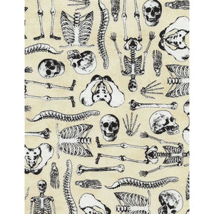 Skeleton Bones Osteology Cream Timeless Treasures #5691 - Quilting & Sewing Fabric