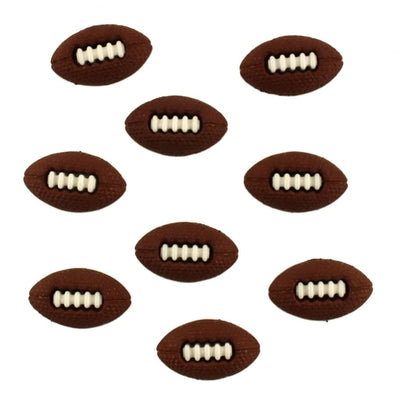Sports Footballs Shank Embellishment Buttons Galore #6695 - Sewing Notions