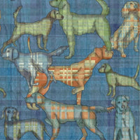 Sports Hunting Dogs Denim Blue Clothworks Fabric #4092 - Quilting & Sewing Fabric
