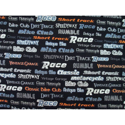 Sports Speedway Race Track Words Windham #1685 - Quilting & Sewing Fabric