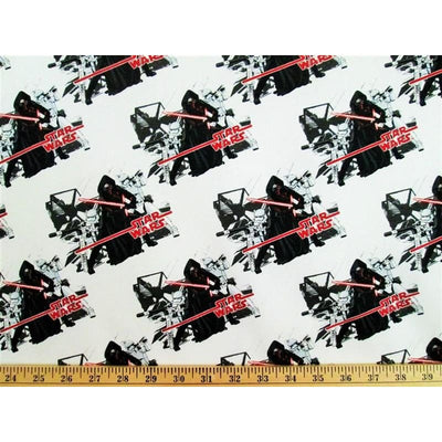 Star Wars The Froce Awakens Imperial White #3608 - Quilting & Sewing Fabric
