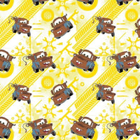 Sunshine Disney Cars Tow Mater Camelot Cottons Fabric #5433 - Quilting & Sewing Fabric