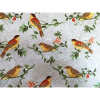 Taupe Wildlife Birds on Branches Benartex Fabric #2859 - Quilting & Sewing Fabric